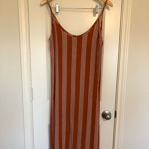 Medium Rust Orange Maxi Dress